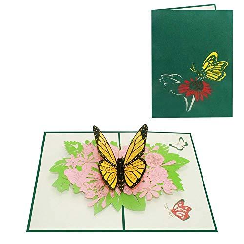 Pop Up Karte Schmetterling Geburtstagskarte Mädchen Gutschein Glückwunsch Geburtstag Tiere Glückwunschkarte - Schmetterling 013