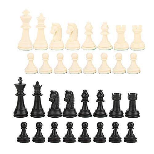 32 Schaakstukken PP Plastic 9.5cm King Figures Schaakstukken Volwassenen Kinderen Schaaktoernooi Spel Speelgoed