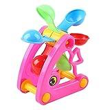 Hvoz Los niños de la playa molino de viento rueda de agua juguetes de verano...