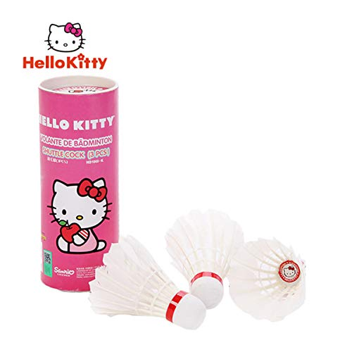 Janeyer-Fitness Hello Kitty - Raqueta de bádminton para niños, niña, Badminton Shuttlecock