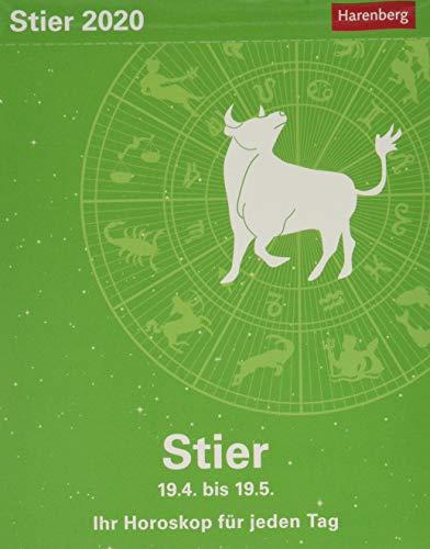 Stier Sternzeichenkalender. Tischkalender 2020. Tageskalendarium. Blockkalender. Format 11 x 14 cm
