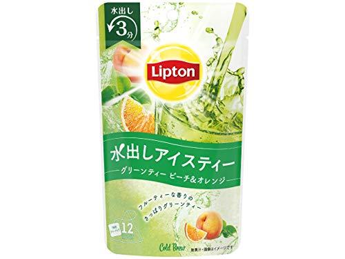 リプトン コールドブリュー グリーンティー ピーチ&オレンジ ティーバッグ (水出し3分) 12袋 ×3袋
