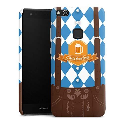 DeinDesign Premium Case kompatibel mit Huawei P10 lite Hülle Handyhülle Bier Feiern Lederhose