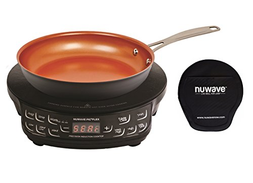 NuWave PIC Compact Precision Induction Cooktop with 9-inch Hard Anodized Fry Pan & Carrying Bag