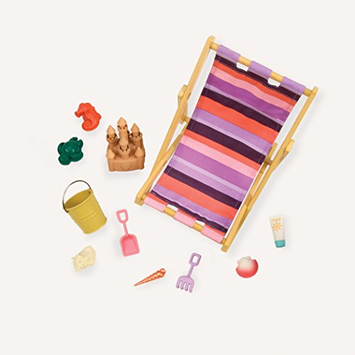 Our Generation BD37286 Beach Chair & Accessories Set