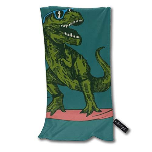 ghkfgkfgk Dinosaurier Surfer Sonnenbrille Handtücher Strandtuch Instant Cool Ice Handtuch Gym Quick Dry Handtuch Mikrofaser Handtuch Kühlung Sport Handtuch 12 X 27,5 Zoll