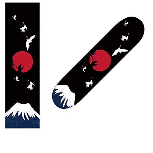 IDE Play Skateboard Griptape, Skateboard Grip Tape Blatt 33x9 Zoll, Schwarz Scooter Grip Tape, Longboard Griptape, Schmirgelpapier für Wellenbrett (84x23cm),C