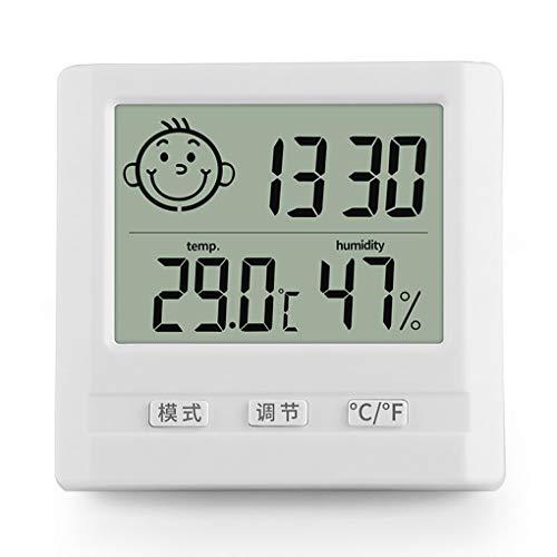WSWJQY Multifunktionales Innenthermometer der Wetterstation Intelligente sensorische LED-Anzeige Genaue Messung Innenwetterüberwachung Funk-Innenwetterstation