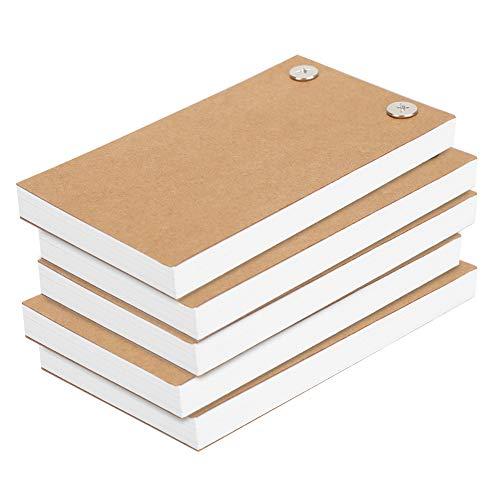 5 piezas de papel de libro abatible en blanco, papel de dibujo para kits de libro abatible, juego de tornillos separados para libros pintados a mano, herramientas de pintura para niños