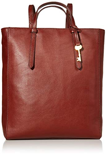 Fossil Women's Camilla Leather Convertible Backpack Purse Handbag, Henna