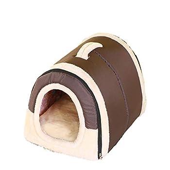 Weimay Maisons et Dômes pour Chats,Cozy 2-in-1 Pet House et Canapé, Extérieur Portable Foldable Dog Room Lit pour Chat
