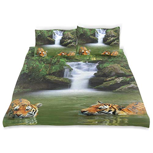 beautiful tigers print bedding