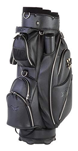 JuCad Bag Style I Golftasche I Außentasche I Schirmfach I Farbe Schwarz
