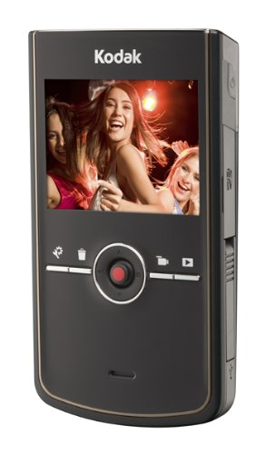 Kodak Zi8 Pocket-Camcorder (SD Karte, 6,4 cm (2,5 Zoll) Display) schwarz