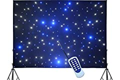 3 X 4 meters(9.8ft x 13.1ft) sparkling LED drape perfect for DJ backdrop This DJ backdrop curtain use Bright single color blue and white LEDs provides a rich mixing Blue,White twinkle effect Preset LED twinkling, color jump,color Gradient Changing,co...