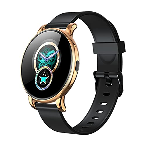 B37 Smart Watch Men Women Heart Rate Monitor Full Round Touch IP67 Waterproof Sport Watch Fitness Tracker for Android IOS,B