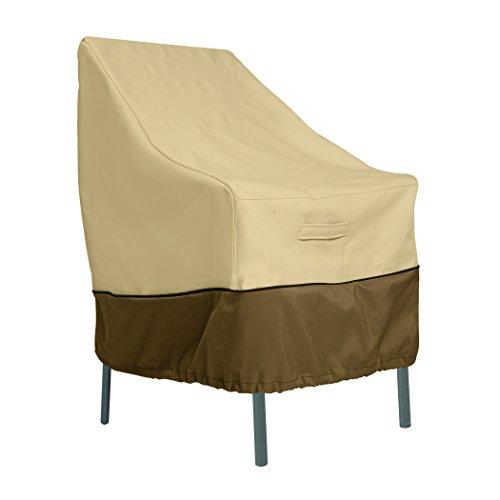Classic Accessories Veranda Haltbare Möbelabdeckung für Gartenstuhl mit hoher Rückenlehne