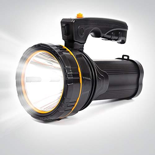 Extrem hell Cree LED Hand Taschenlampe Hochleistungs Suchscheinwerfer usb Aufladbar Handscheinwerfer 4 Akku 10000Mah Groß Batterie Flashlight Torch 1 Jahr Garantie