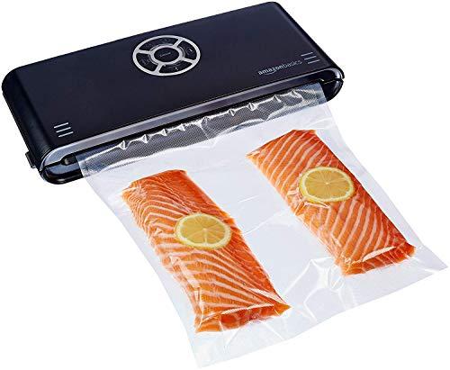 AmazonBasics, Macchina sigillatrice per sottovuoto, Larghezza di sigillatura 30 cm,10 sacchetti per sottovuoto inclusi, Nero