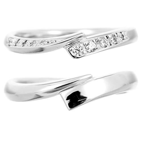 [ココカル]cococaru ペアリング マリッジリング 結婚指輪 プラチナ Pt900 2本セット ダイヤモンド 日本製 】(レディースサイズ12号 メンズサイズ1号)
