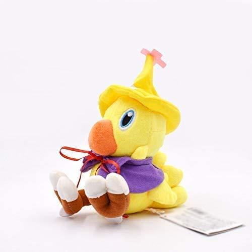 JIAL Final Fantasy Chocobo-Vogel mit Hut Plüschtier 15cm, Kawaii Baby Spielzeug Gefüllte Puppe, Tolles Geburtstagsgeschenk für Kinder Chongxiang