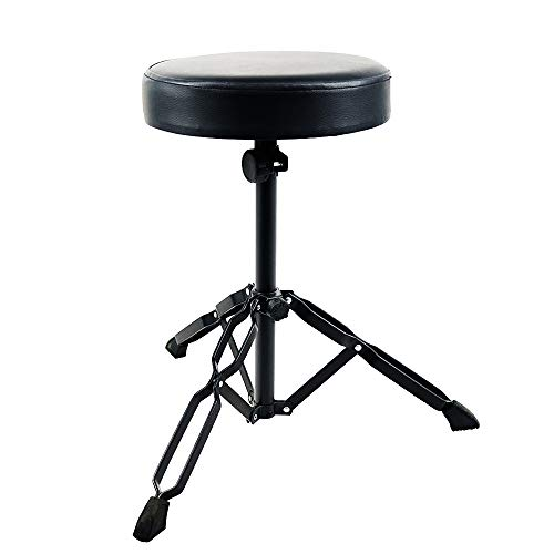 Doubleblack Adjustable Drum Stool Drum Throne with Padded Seat Metal...