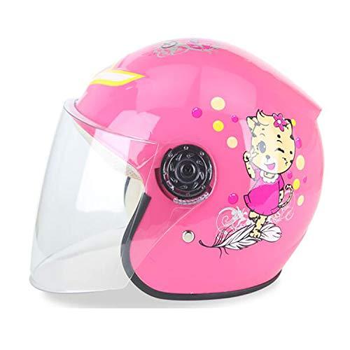 Yedina Kinderhelm Elektrische Motorradhelm Kinder Cartoon Helm Helfen Kinder Leichte Fahrrad Universal Helm Vier Jahreszeiten Sommer Sonnencreme Pedal Roller Helm (Kann Farbe Wählen),Pink