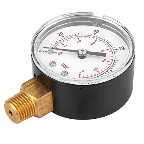 Socobeta Mejor protección Medidor de presión 1/4 BSPT Componentes de latón lecturas claras Medidor de presión para la medición de presión doméstica (0-100psi 0-7bar)