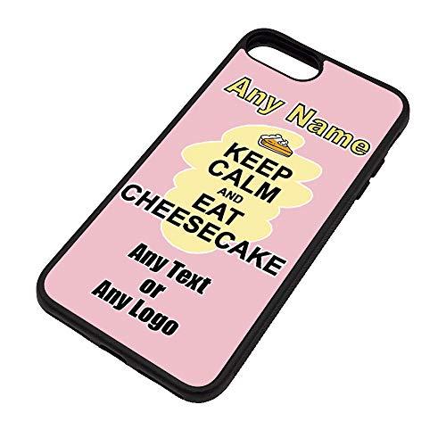 UNIGIFT Gepersonaliseerd geschenk - Houd kalm eten Cheesecake iPhone Case (Voedsel Design) Elke Naam Bericht Unieke Apple TPU Cover - Draag Poster Party Dieet Snack Chocolade Chips Fruit Cream Veg Pizza