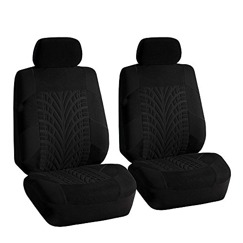 FH Group FB071102 Travel Master Seat Covers (Black) Front Set – Universal Fit for Cars Trucks and SUVs