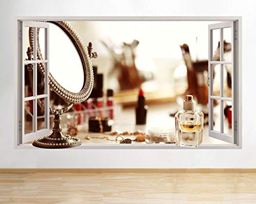 C483 Parel Spiegel Parfum Cosmetica Venster Muursticker 3D Art Stickers Vinyl RoomLarge