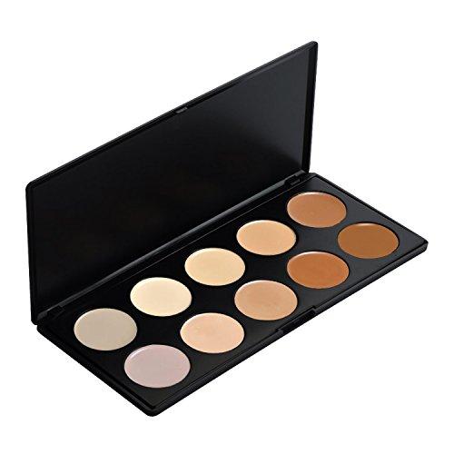 GlamGals 10 Color Concealer Palette,30g