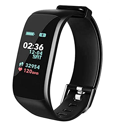 Fitness Tracker,Activity Tracker Watch with Heart Rate Blood Pressure Blood Oxygen Monitor,Waterproof Smart Fitness Band with Step Counter,Calorie Counter,Sleep Monitor for Kids Women and Men (Black)