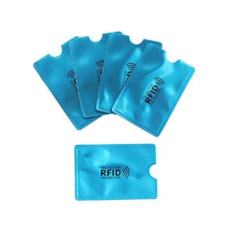 Waizmann.IDeaS® RFID NFC Blocker Beschermhoes paspoort identiteitskaart Beschermhoes Beschermingsbescherming Blau EC-Format Stück: 10