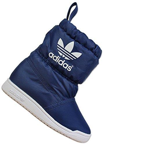 adidas Slip On Boot I - Botas Unisex, Color Azul Marino/Blanco, Talla 20