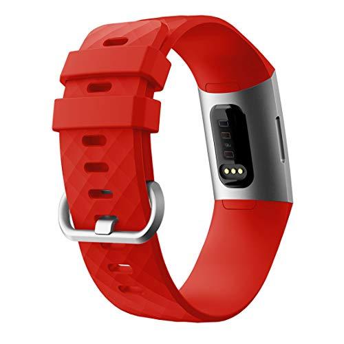 RALC Silikonarmband für Fitbit Charge 3 (Diamant-Armband) H8