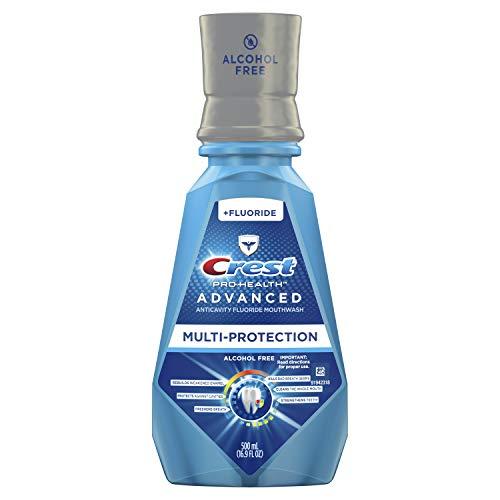 Crest Pro-Health Advanced Mouthwash, Alcohol Free, Multi-Protection, Fresh Mint, 500 mL (16.9 fl oz)