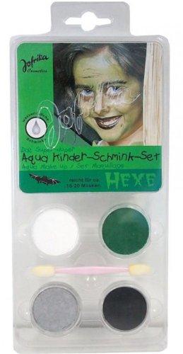 Schminkset Hexe Hexenschminkset für Hexen Makeup Schminke Halloween Karneval Fasching