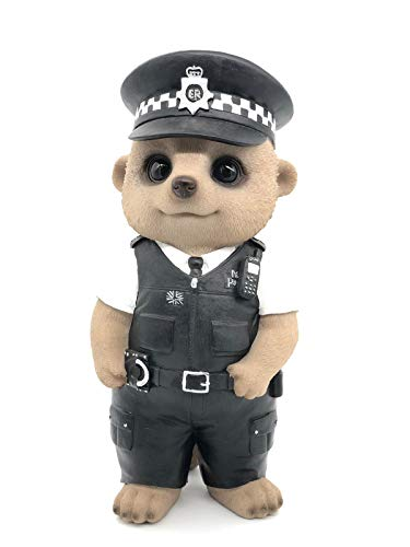 Vivid Arts - Policeman Baby Meerkat Home or Garden Decoration (XMK-2333-D)