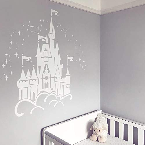 Best Design Amazing Decals Floating Disney Fairy Castle Wall Sticker Vinyl Decal Wall Art for Nurseries - Made in USA