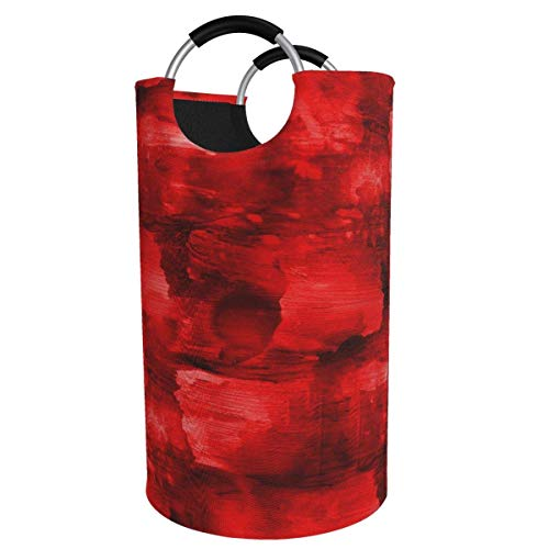 Cesto de lavandería redondo, cubismo rojo cesto de lavandería cubo plegable bolsa de ropa 82 litros para organización de habitaciones de niños clasificador de cubos de lavado manta de ropa sucia con a