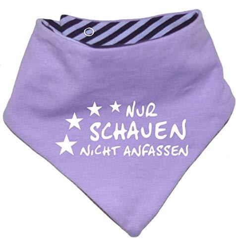 KLEINER FRATZ KLEINER FRATZ Kinder Wendehalstuch uni/gestreift (Farbe flieder-pflaume (Gr. 1 (0-74)) Nur schauen nicht anfassen/FAT