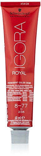 Schwarzkopf IGORA Royal Premium-Haarfarbe 8-77 hellblond kupfer extra, 1er Pack (1 x 60 g)