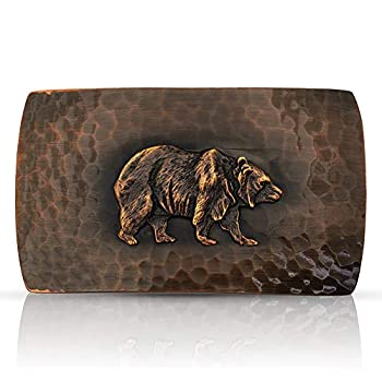 Montana Silversmiths Small Cascade Buckle with Grizzly Bear