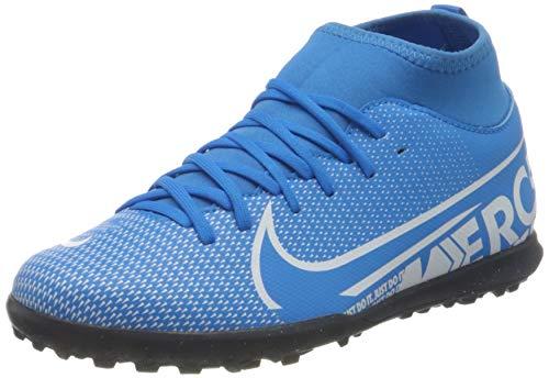 Nike JR Superfly 7 Club TF, Scarpe da Calcio, Blue Hero/White-Obsidian, 37.5 EU