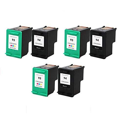 Cartucho de tinta de alta rendimiento compatible para HP 94 95XL, para HP DeskJet 460 5740 5743 5745 impresora 3 sets