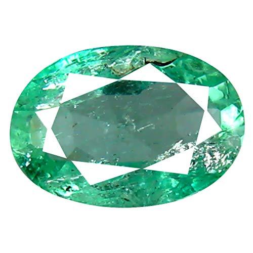 Smeraldo colombiano, taglio ovale da 0,86 ct (7 x 5 mm)