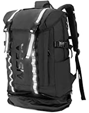 AISFAリュックメンズ リュックサックバックパック スクエア 30L 防水15.6インチ PC ビジネス ラップトップバック USB充電ポート付き アウトドア旅行 通勤 靴/弁當収納