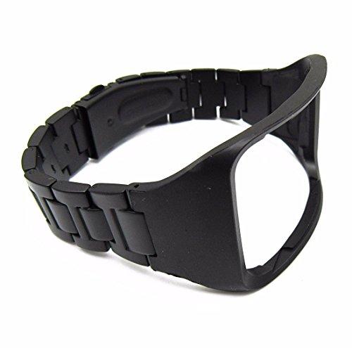 In acciaio INOX nero orologio da polso per Samsung Galaxy Gear S R750Smartwatch replacement metallo bracciali da polso Wristband, Black