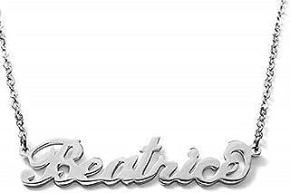 Collana nome BEATRICE in acciaio inossidabile. Nome Beatrice. Perfetto per idea regalo. Handmade. anallergico no nichel
